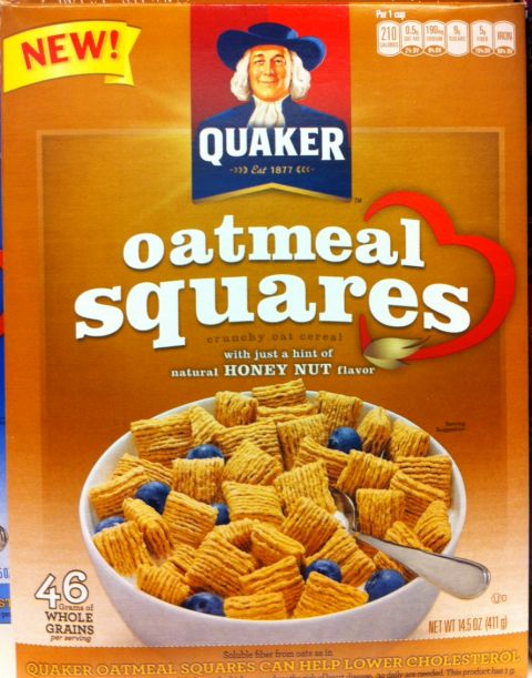 Quaker Oatmeal Squares Honey Nut | My Cereal Box